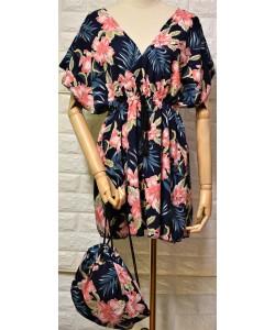 Γυναικείο φόρεμα σετ με τσάντα LA-767-1