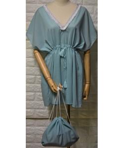 Γυναικείο φόρεμα σετ με τσάντα LA-768